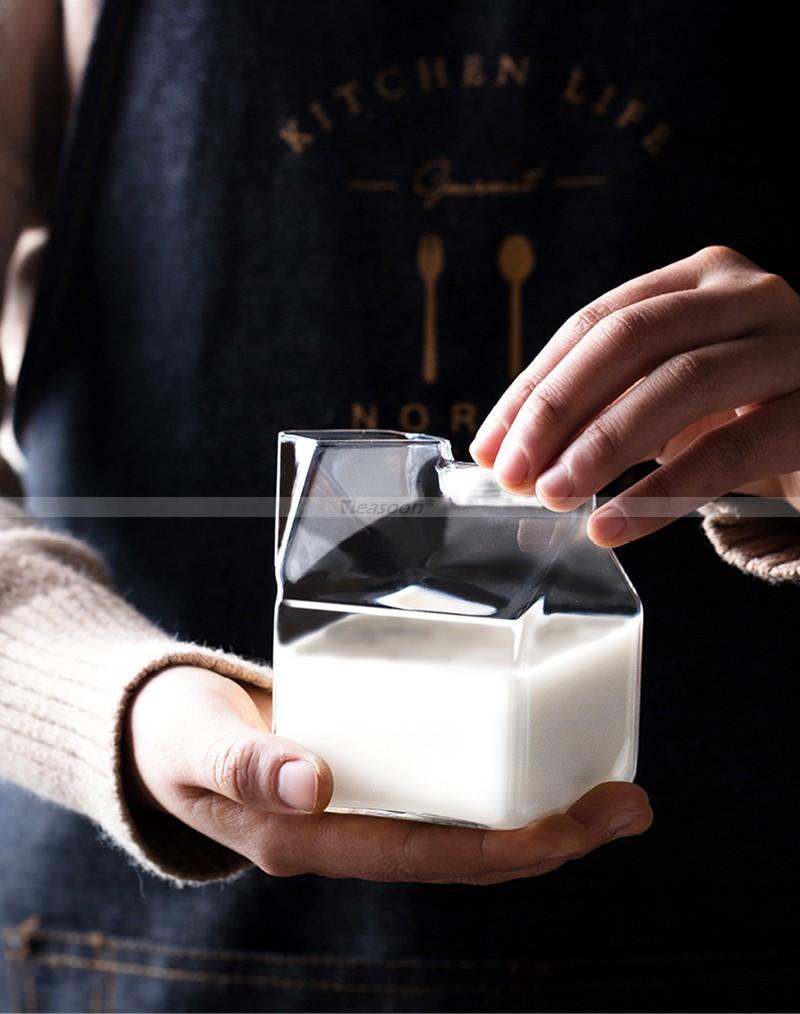 Half-Pint-Glass-Creamer-Carton-Milk-Tempered-Glass-牛奶盒玻璃杯-우유카톤유리-ミルクカートングラス-Vaso-de-cartón-de-leche