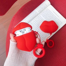 Fashionable Sexy Red Lips Airpods 1/ 2 case