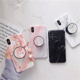Marble Phone Case with Collapsible Grip & Stand