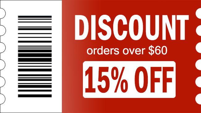 automatic discount,15% off on orders over $60
