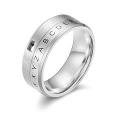 Rotatable Secret Decoder Ring Unisex Personalized Ring