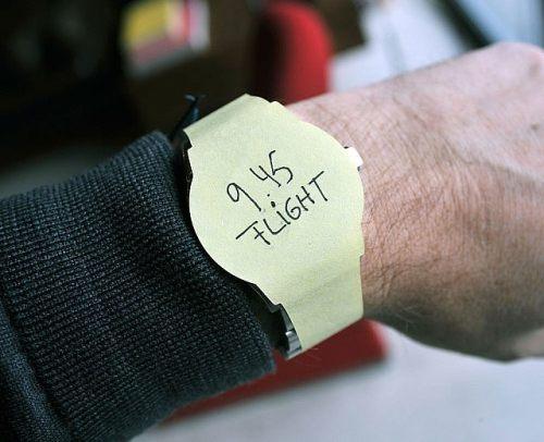 Post-it Watch Sticky Note Wrist Watch 3 Packs Office Gadget Gift Ideas