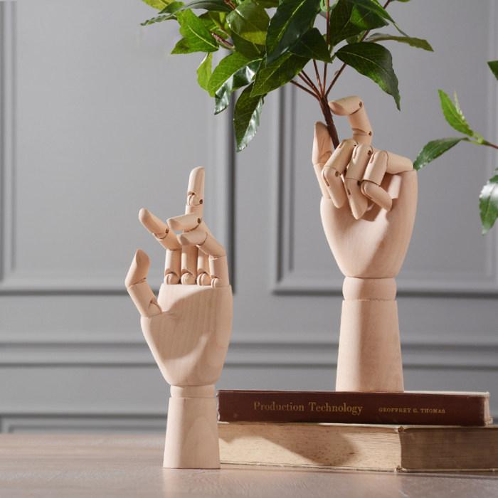 Artist Wooden Hand Model Gift For Him Kids Home Decoration
