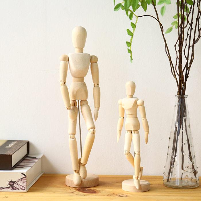 Wooden Human Mannequin Artist Human Figure Wooden Model Poseable Life Size