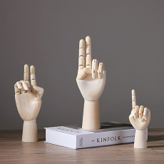 Artist Wooden Hand Model Gift For Him Kids Home Decoration