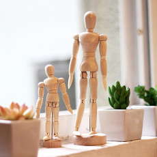 Wooden Human Mannequin Artist Human Figure Wooden Model Poseable Life Size