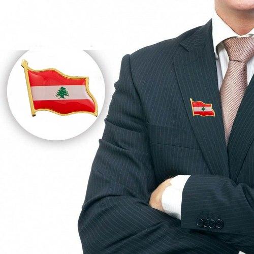 Lebanon National Flag Lapel Pins Badge Gift for Him God bless Lebanon