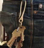 Japanese Hook Keychain Personalized Brass Keychain Gifts for Men for Father
