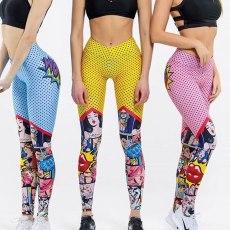 Cartoon Leggings High Waist Leggings Sexy Fitness Sports Pants Workout Leggings Best Friends Gifts