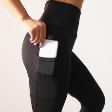 Pockets Patchwork Leggins High Waist Fitness Leggings Women Push Up Workout