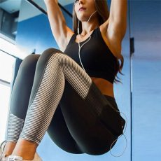 Women Leggings With Pocket Fashion Push Up High Waist Elastic Ankle Length Patchwork Workout Leggings