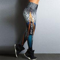 Ins Style Women Fitness Leggings Skinny High Waist Elastic Push Up Leggings Workout Pants