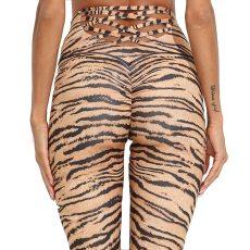 Tiger Pattern Fitness Pants Women Leggings Push Up Workout Leggings Gym Sporting Leggins