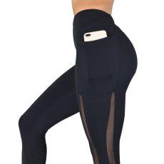 Fitness Leggings High Waist Pocket Mesh Comfortable And Breathable Leggings Workout Leggings