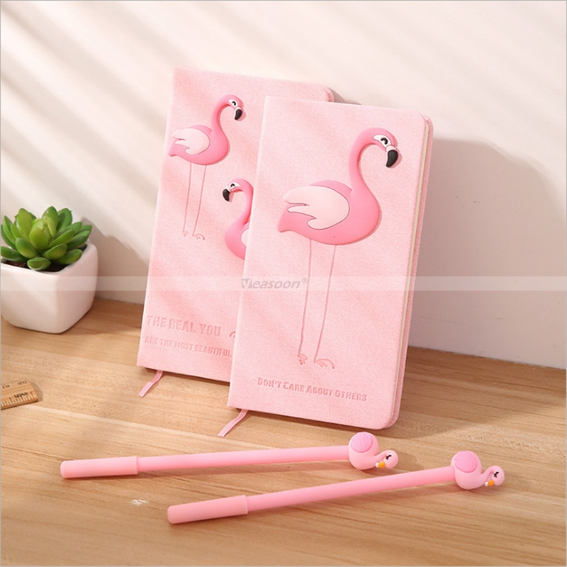Flamingo Notebook and Pen Gift Box Kit Going Back to School Gift for Teens for Daughter