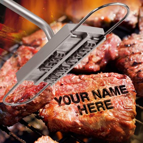 Customizable BBQ Steak Iron Name Branding Marking Stamp Barbecue Branding Tool