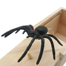 Spider Scare Box Prank Plans Trick Joke Halloween Spider Wood Box Toy