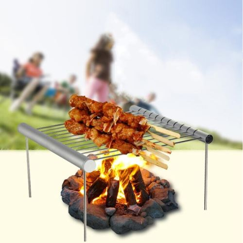 New Arrive Mini Pocket BBQ Grill Portable Stainless Steel BBQ Grill Folding BBQ Grill Barbecue Accessories For Home Park Use 2