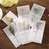 Dry Flower Greeting Cards Personalized Custom Greeting Cards可定制幹花賀卡말린 꽃 인사말 카드乾燥した花のグリーティングカードTarjeta de felicitación de flores secas