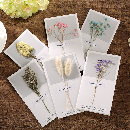 Dry Flower Greeting Cards Personalized Custom Greeting Cards可定制幹花賀卡말린 꽃 인사말 카드乾燥した花のグリーティングカードTarjeta de felicitación de flores secas