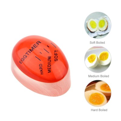 Egg Perfect Timer Kitchen Craft Colour Changing Egg Timer Kitchen Hard Boiled Egg Timer Gifts for Cooker : Veasoon