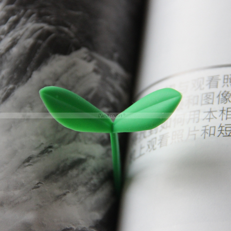 Sprout-Little-Green-Bookmarks-Burgeen-Tender-Shoot-Bookmark-嫩芽書簽-버드북마크- Marcador-de-yemas-小さな緑のしおり シリコンのつ