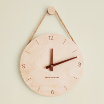 Customizable Minimalist Style Wall Clock Wood Personalized Gifts 可定制掛鐘 맞춤형벽시계 カスタマイズ可能な壁掛け時計 Reloj de pared personalizable