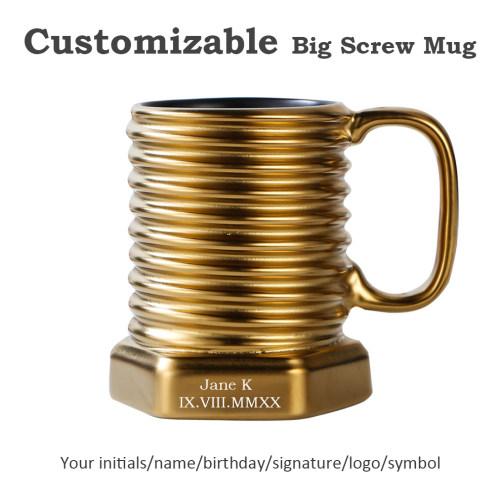 Big Screw Mug Coffee Tea Mug Personalized Mug Cup Wedding gifts for Him Men