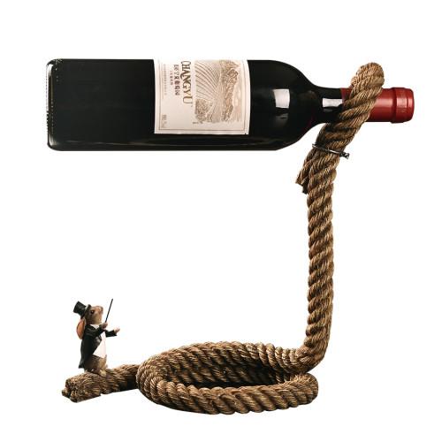 Rabbit Magic Show Bottle Stand Red Wine Bottle Rack Holder Home Decoration Christmas Gift