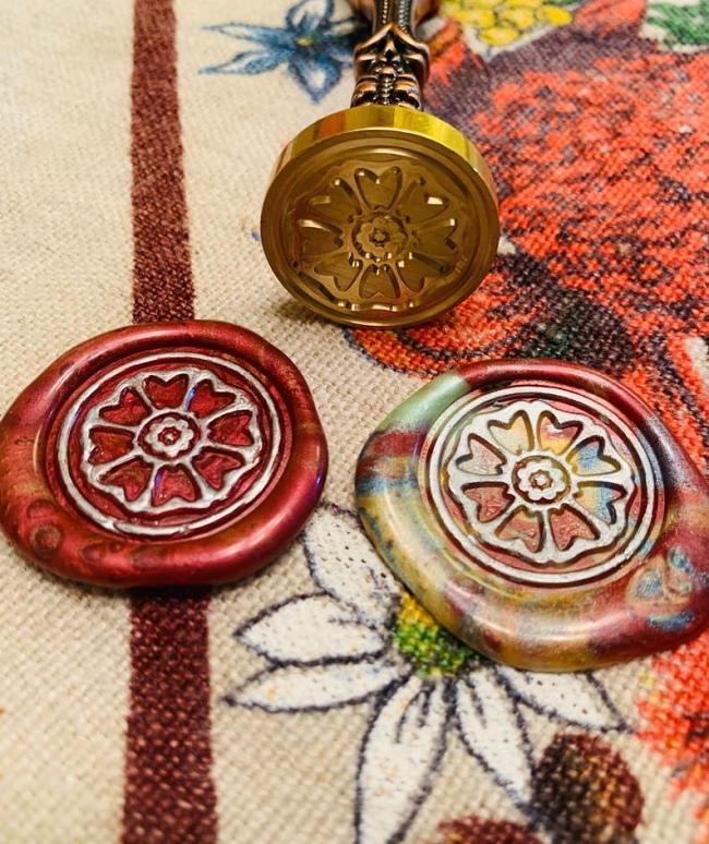 White Lotus Wax Seal Stamp,Flower Wax Seal Kit