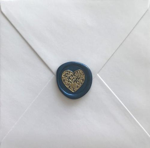 Floral Heart Wax Seal Stamp Personalized Wedding Gifts Valentine's Day Gift for Couple