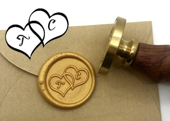Heart to Heart  Wax Seals Stamp,Wedding Invitation Sealing Wax Stamp