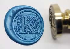 Alphabet  K Wax Seal Stamp,Floral Letter K  Wax Seal Kit