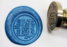 Alphabet H Wax Seal Stamp Kit Letter H Flower Style Wax Seal Kit