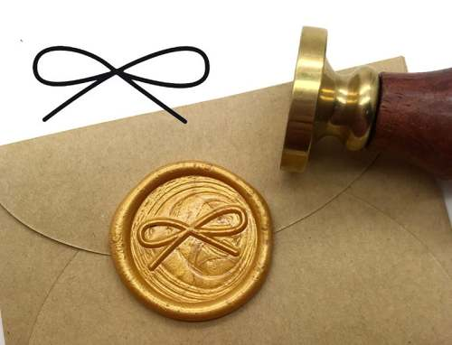 Wedding Invitation Sealing Wax Stamp Kits,Bow Wax Seal Stamp
