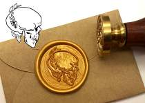 Skull Wax Seal Stamp Kit Invitation Sealing Wax Stamp Kits