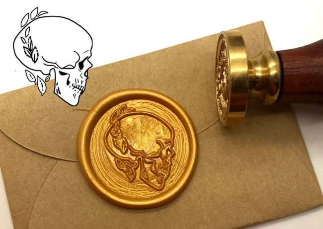 Skull Wax Seal Stamp Kit Invitation Sealing Wax Stamp Kits