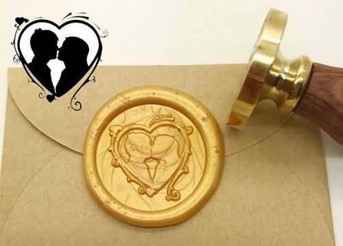 Valentine's Day Invitation Sealing Wax Stamp Kits,Couple Wax Seal Stamp Kit,Weeding Gift idea