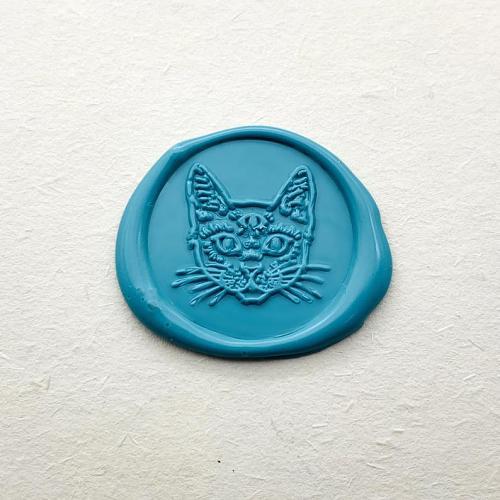 Cat Wax Seal Stamp,Cute Cat Sealing Wax Stamp, Sealing Wax Stamp
