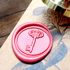 Classic Key Wax Seal Stamp Wedding Gift for Him Her Seal Stamp Kit