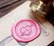 Custom Couple Wax Seal Stamp Sweetheart Gift idea