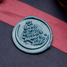 I Love You To the Moon & Back Wax Seal Kit,Wedding Wax Seal Gift