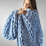 Hand-Made-Chunky-Merino-Wool-Blanket-Thick-Big-Yarn-Roving-Knitted-Plaid-Blanket-for-Bed-Christmas-Gift
