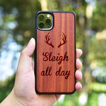 Sleigh All Day Wood iPhone Case Personalized iPhone Case Carved Wooden Samsung Case Worldwide Free Shipping