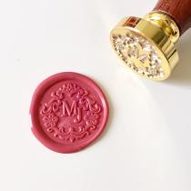 Floral Initials Monogram Wax Seal Stamp Wedding Gifts Valentine's Day Gifts
