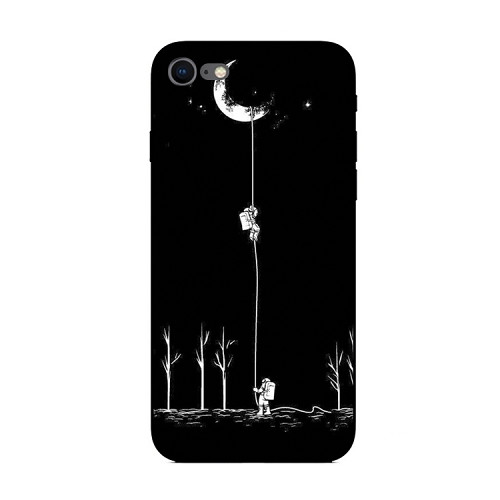 Astronaut Climb To The Moon iPhone Case