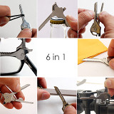 6 in 1 Multi-Function Security Key Tool Multi-tool for Outdoor Sports Camping Gifts for Father Him