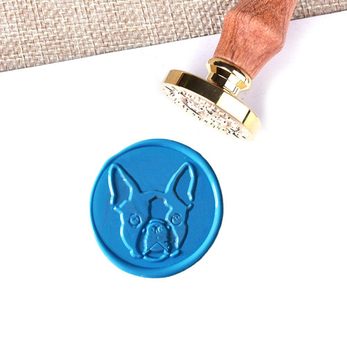 Personalized Pet Stamp Boston Terrier Dog Wax Seal Stamp Gifts for Pet