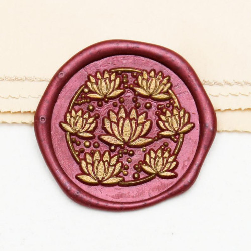 Lotus Wax Seal Stamp for Buddhist Sutras Custom Sealing Wax Stamp