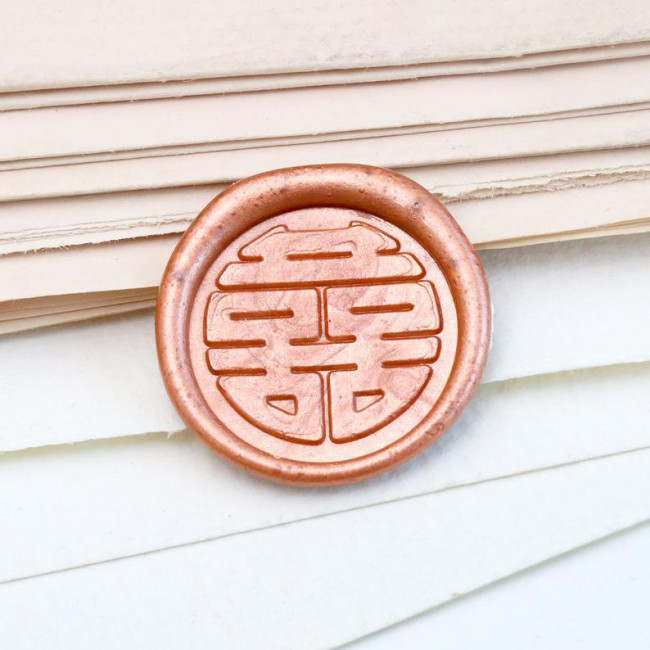 Double Happiness 雙喜 Wax Seal Stamp Taiwan Hongkong Wedding Wax Seal Stamp Kit Personalized Gift